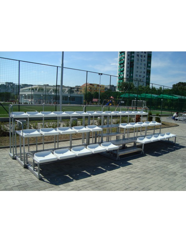 Олекотена модулна трибуна 34 места