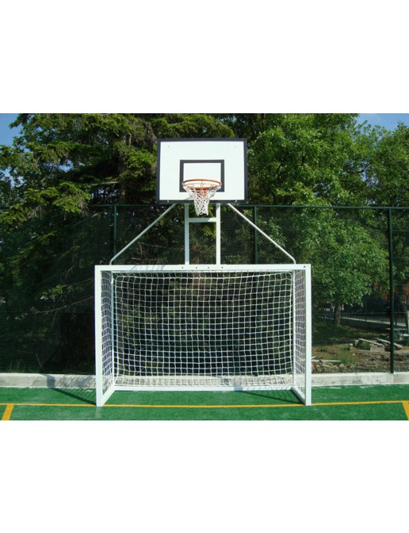 Мултифункционална врата за мини-футбол с баскетболна надстройка