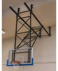 Basketball ceiling mounted construction
