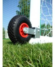 Transport wheels for soccer goals
